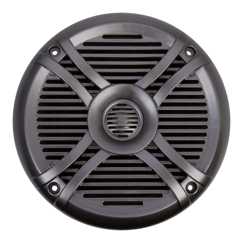 White//Titanium Power Acoustik MF-65WT Marine Grade 6.5 Coaxial Speaker